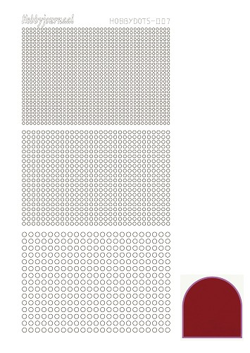 Hobbydots sticker - Mirror - Red