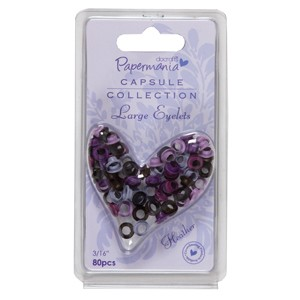 3/16 inch eyelets - capsule (80pcs) heather