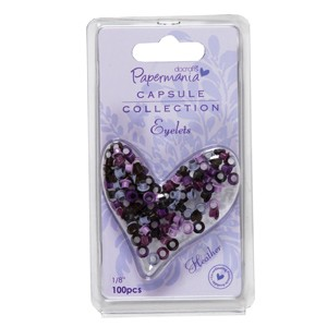 1/8 inch eyelets - capsule (100pcs) heather