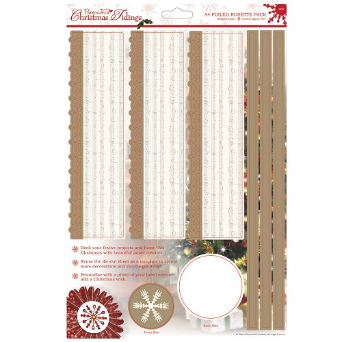 A4 Foiled Rosette Pack - Christmas Tidings (Carols)