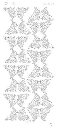 Butterflies Large Platinum - Zilver