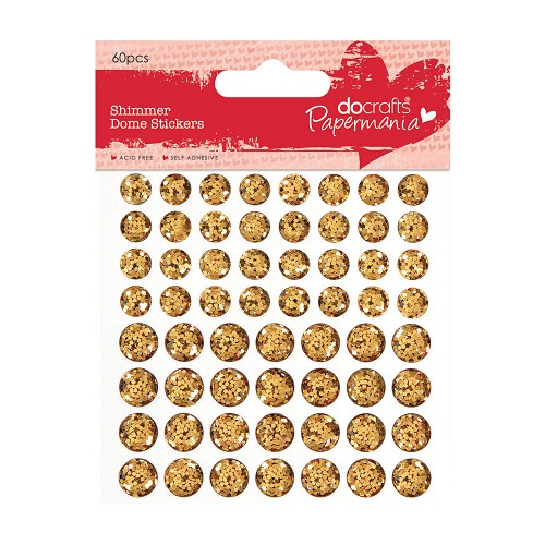 Shimmer Dome Stickers (60pcs) - Gold