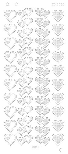 Hearts Various Platinum - Zilver