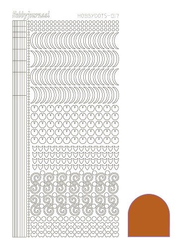 Hobbydots sticker - Mirror Copper