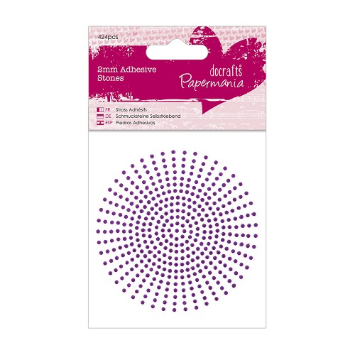 2mm Adhesive Stones (424pcs) - Purple