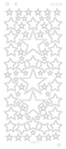 Stars various sizes Platinum - Goud