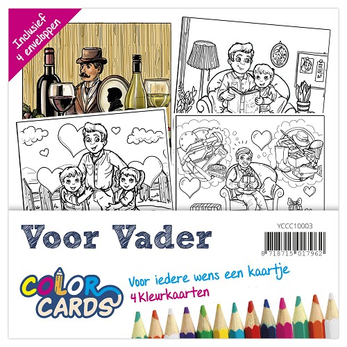 Color Cards 3 - Yvonne Creations - Voor Vader