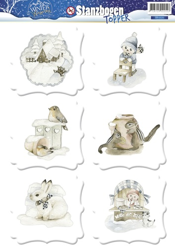 3D Topper - Precious Marieke - Winter Wonderland