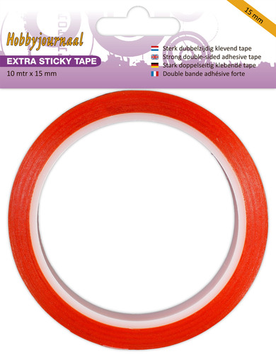 Hobbyjournaal - Extra Sticky Tape - 15 mm