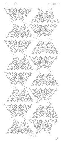Butterflies Large Platinum - Goud