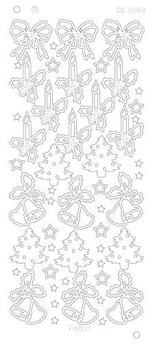 Various X-mas designs Platinum - Goud