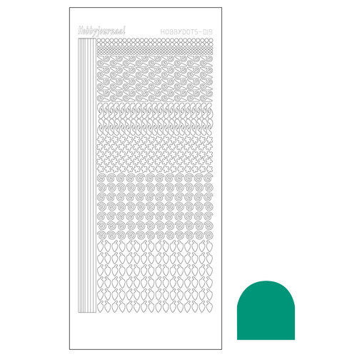 Hobbydots sticker - Mirror Emerald