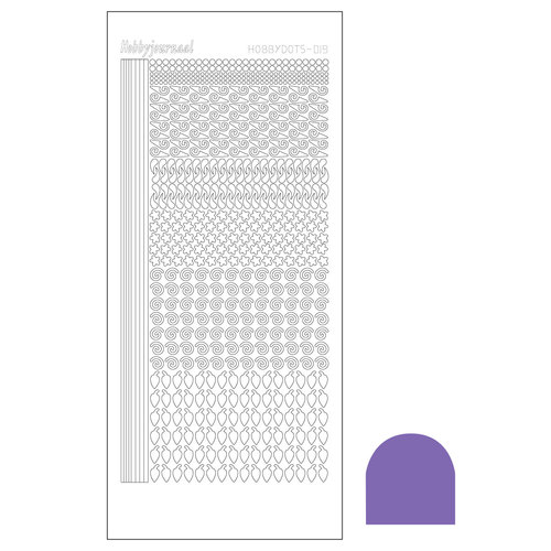 Hobbydots sticker - Mirror Purple