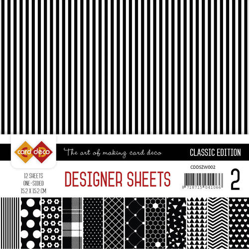 Card Deco - Designer Sheets -  Classic Edition- zwart