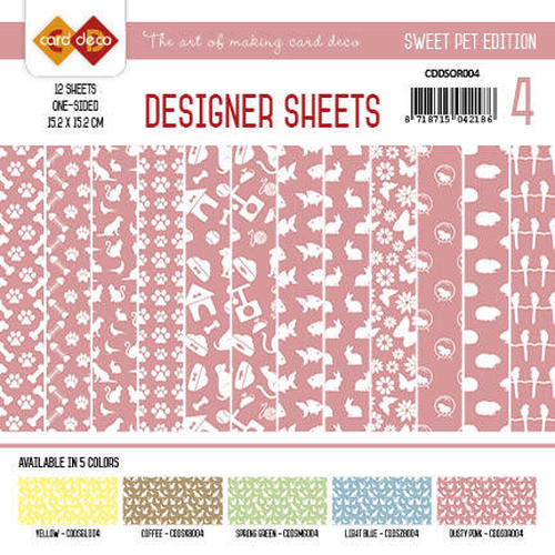 Card Deco - Designer Sheets -  Sweet Pets-Oudroze