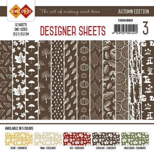 Card Deco - Designer Sheets - Autumn Colors-Chocoladebruin