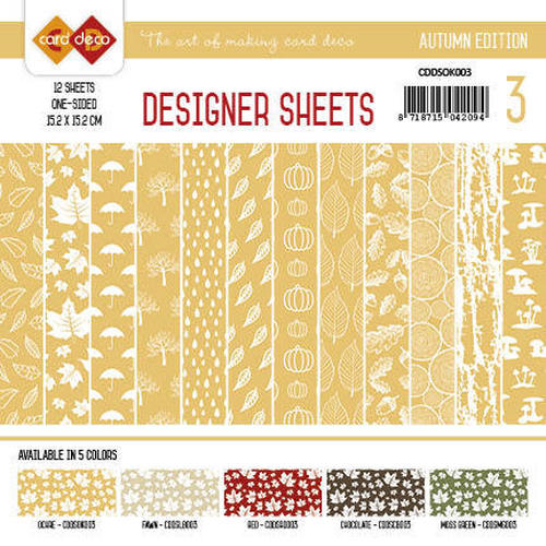 Card Deco - Designer Sheets - Autumn Colors-Oker-