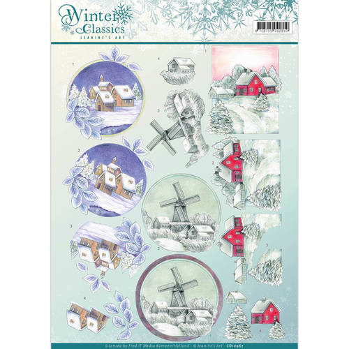 3D Knipvel - Jeanine`s Art - winter classics- Christmas Landscapes