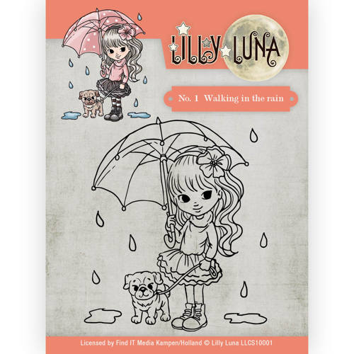 Clearstamp -Lilly Luna - 1 Walking in the Rain