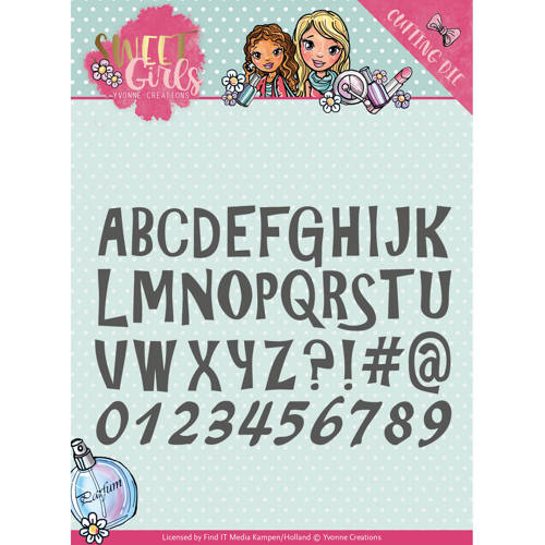 Die - Yvonne Creations - Sweet Girls - Lovely Alphabet