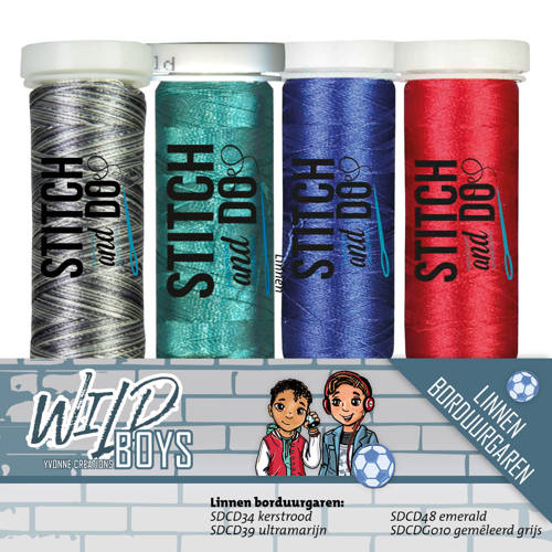 Stitch and Do Garenset - Yvonne Creations - Wild Boys