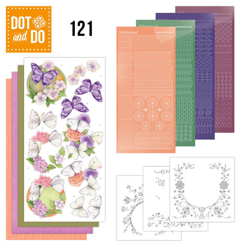 Dot and Do 121 - Jeanine`s Art - Vlinders en Bloemen