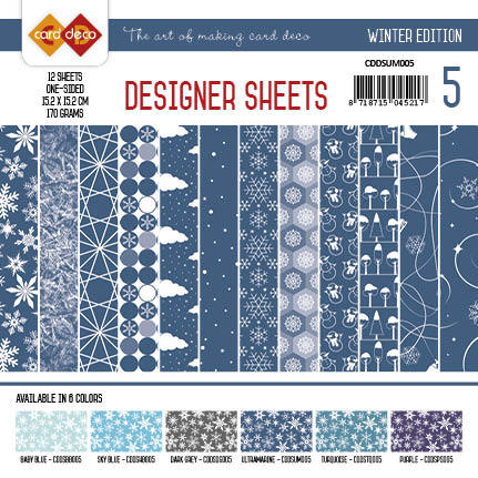 Card Deco - Designer Sheets - Winter Edition ultramarijn