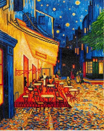 DD10.005 Diamond Dotz - 52x42cm - Caf at Night (Van Gogh)