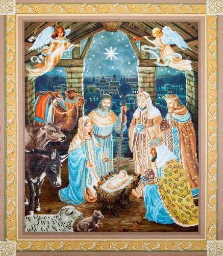 DD15.002 Diamond Dotz - 85x100cm - Nativity Scene