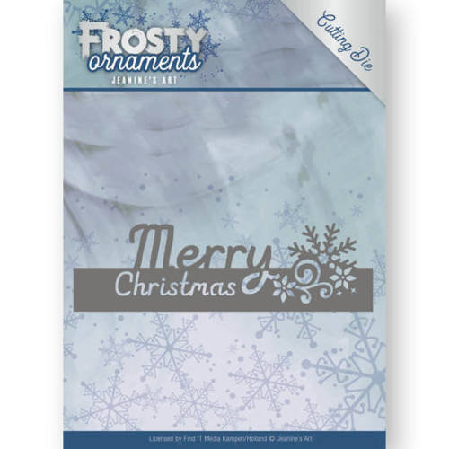 Dies - Jeanine's Art - Frosty Ornaments - Text Merry Christmas