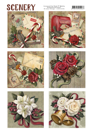 Die Cut Topper - Scenery - Christmas roses