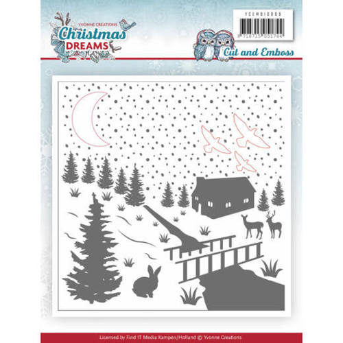 Cut & Embossing Folder - Yvonne Creations - Christmas Dreams