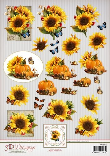 Ann's Paper Art 3D Decoupage Sheet Sunflowers