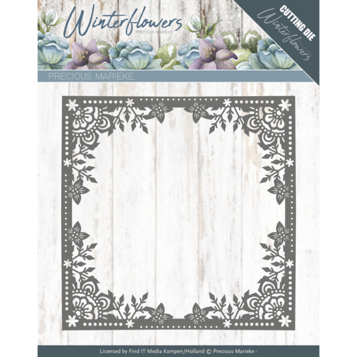 Dies - Precious Marieke - Winter Flowers - Ice Flower Frame