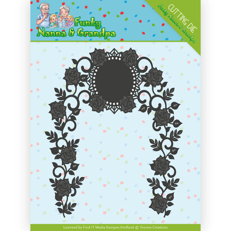 Dies - Yvonne Creations - Funky Nanna's - Floral Arch