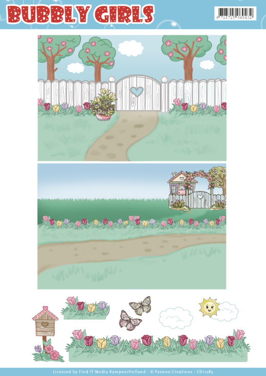 Background Sheets - Yvonne Creations - Bubbly Girls - Spring