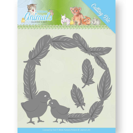 Dies - Jeanine's Art - Young Animals - Feathers all Around