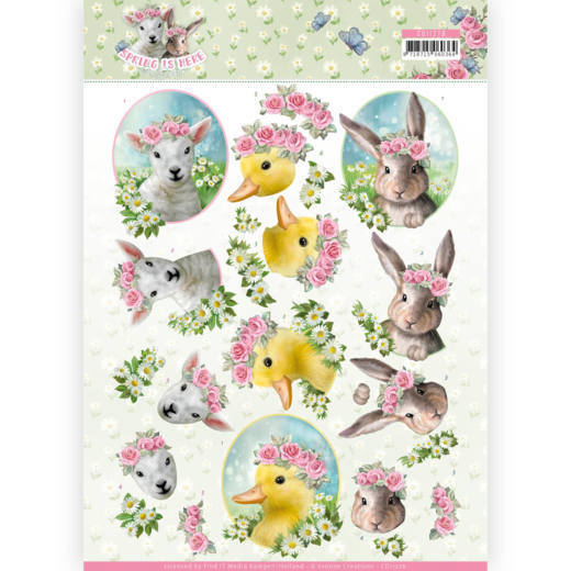 3D Knipvel - Amy Design - Spring is Here - Baby Animals