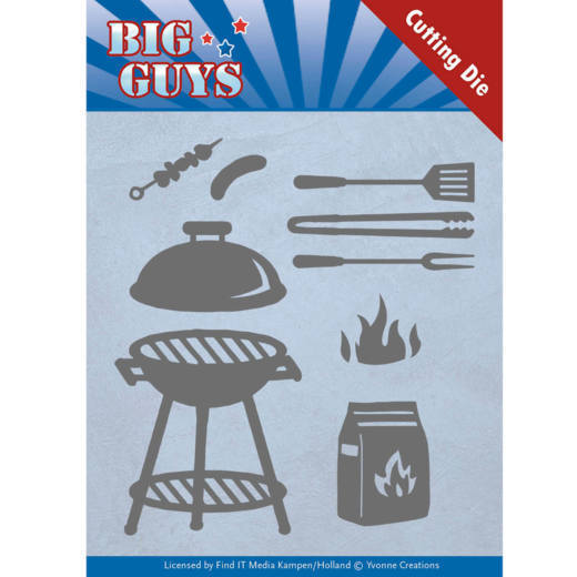 Dies - Yvonne Creations - Big Guys - BBQ time