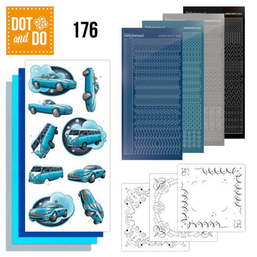 Dot and Do 176 - Yvonne Creations - Cars in Blue