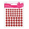 Shimmer Dome Stickers (60 PCS.) - Red